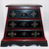 Furniture Hand Made Painted,India,Indian Art.Pyramid Drawer Cabinet.