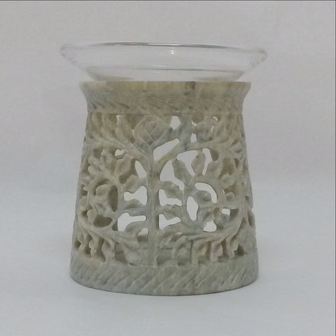 Aroma Diffuser,Oil Warmer,Carved Soapstone.India.