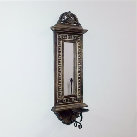 Candle Holder With Mirror,Wall Mounted sconce. set of 2.Kim.