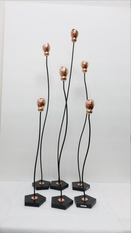 Metal aluminum tall candle holders,candle sticks,set of 6.