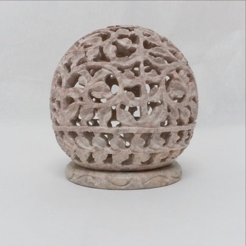 Soapstone T light Holder,Art India.