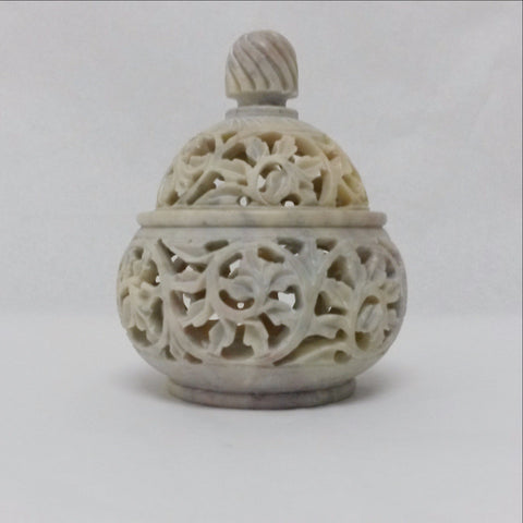 Soapstone Tea Light Candle Holder