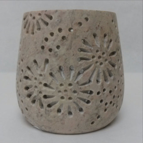 Soapstone Tea Light Candle Holder,