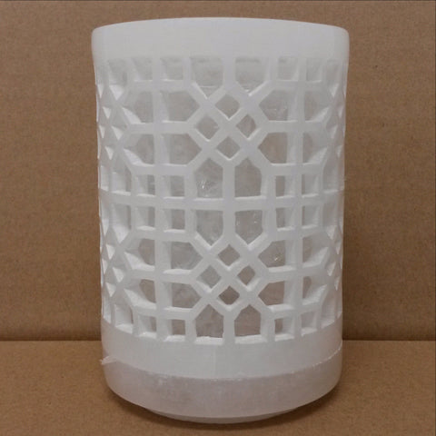 Alabaster stone Candle Holder.White Alabaster.