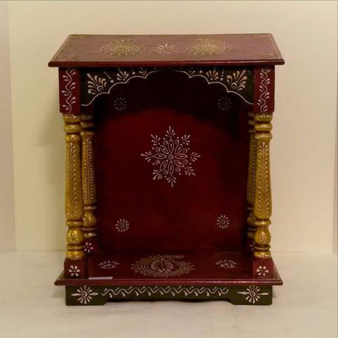 Floating Temple Shelf,Hand painted .Pooja,Puja, accessory,India Indian Art.