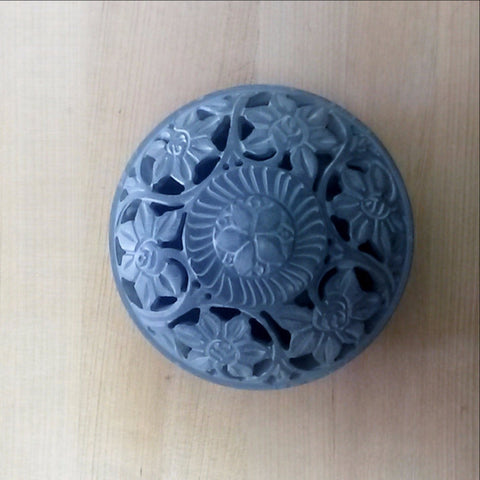 Potpourri Holder,Trinket dish,, Incense holder.Carved Soapstone.