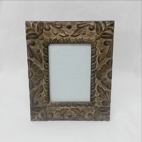 Carved wood picture Frame.  Amla