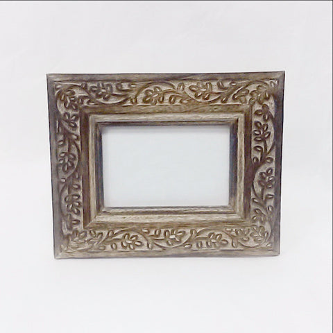 Carved Mango Wood Photo Frame ,Picture Frame 6 X 4 inches.Tina.