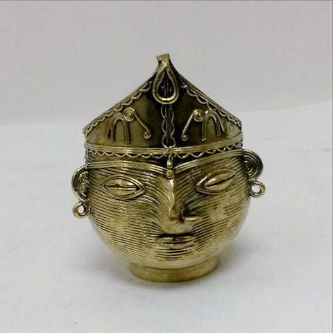 Dhokra Dokra Art,Hand crafted,Tribal art. Laxmi Mask.