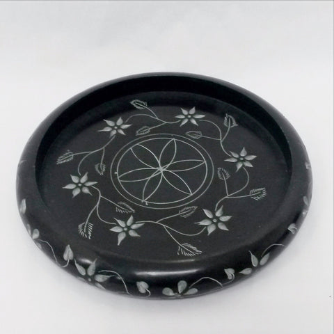Carved Soapstone Tea Light Candle Holder,Trinket dish