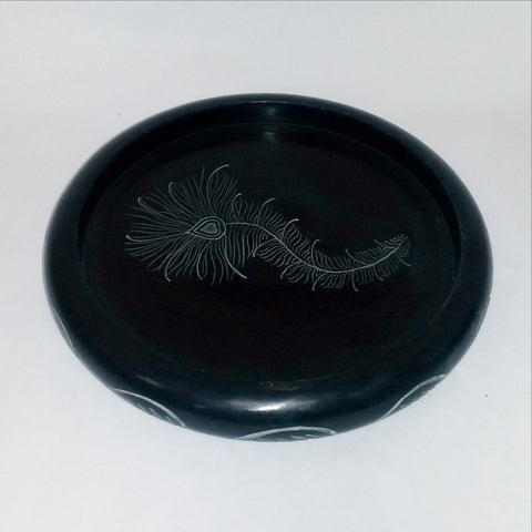 Tea Light Candle Holder Soapstone,Multi use Tray.Trinket holder,Pot holder.