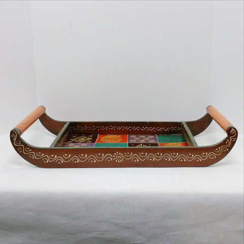 Indian serving tray,Ethnic Tray,Hand Painted,Rajasthani Art.India,Indian art.