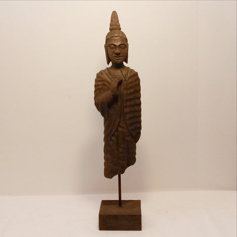 Buddha standing wood sculpture  Hand Carved sculpture,Buddha Figurine,