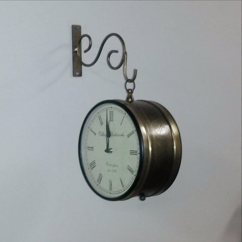 Dual face clock,double sided clock,station clock.