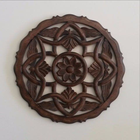 Wall decor.Carved Wood Wall Art Plaque ,Decorative. 18 x 18 inches, INA