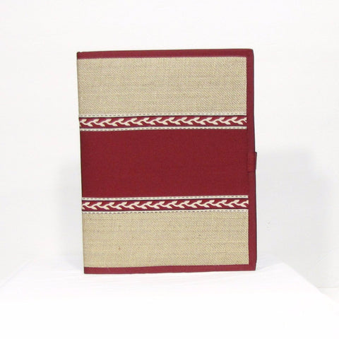 File folders Maroon jute 1409j