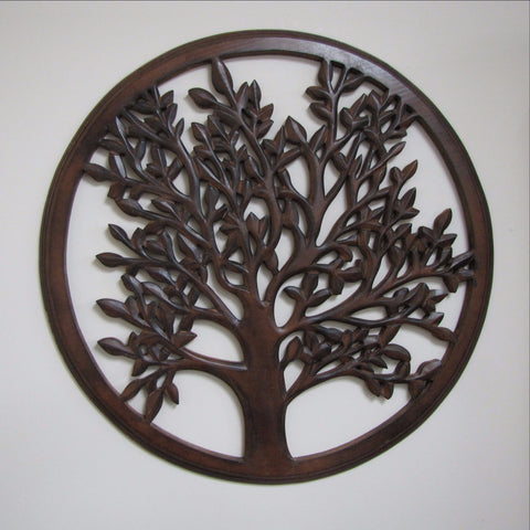 Carved Wood Wall Art Plaque ,Decorative Ava
