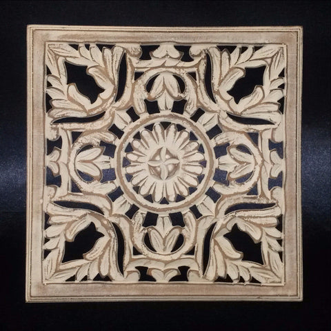 Carved Wood Wall Art Plaque ,Decorative. DEE