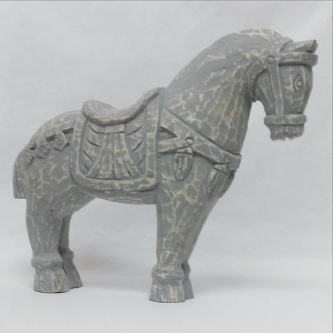 Wood Hand Carved sculpture,Figurine.Horse Grey.