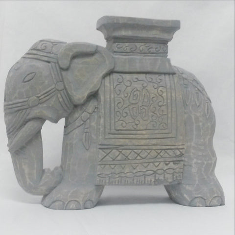 Wood Hand Carved sculpture,Figurine.Elephant Grey.