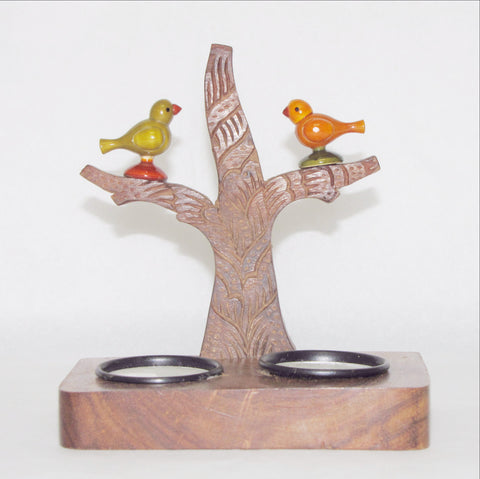 Tealight Candle Holder ,Parrot motif.