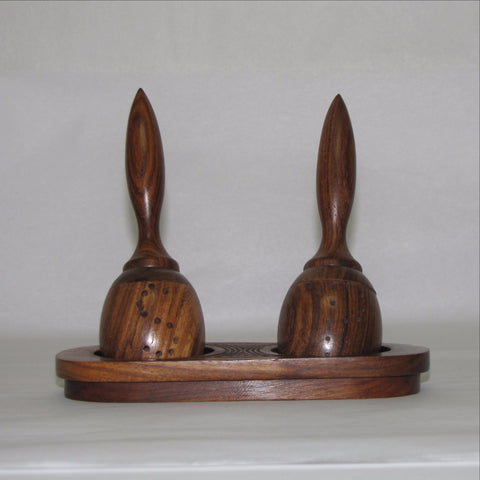 Salt and Pepper shaker Hand made Wood.