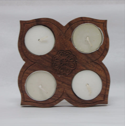 Wood Tealight Candle Holder.