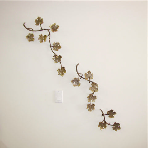 Brass Leaf Wall decor,Table decor.
