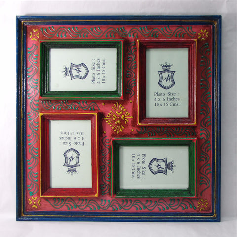 Photo Picture Frame ,Hand painted ,Rajasthani ,India Indian Art.Family,Collage
