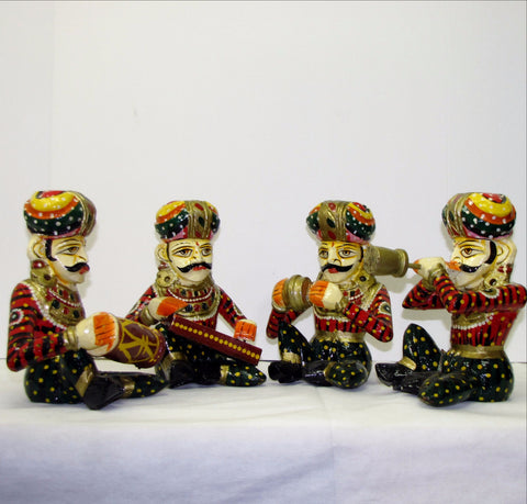 Rajasthani Musician set,Indian home decor.Indian art,India gift.