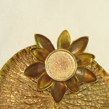 Brass Intricate Detailed Candle Holder Water Lily.
