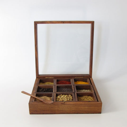 Spice box, Trinket Box ,Masala Storage Box.Hand Crafted.
