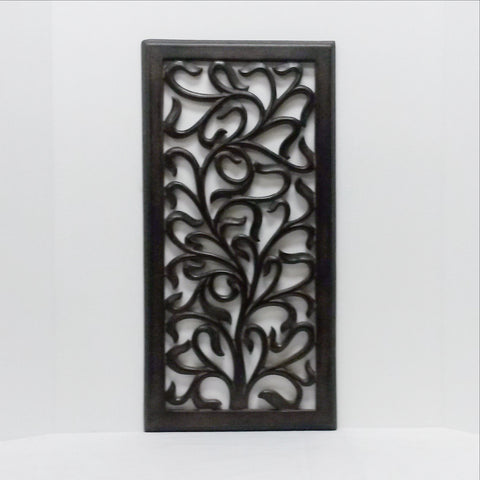Carved Wood Wall Art Plaque ,Decorative.  KIA