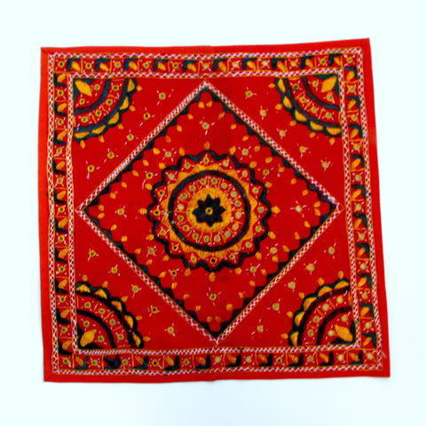 Cushion covers,Floor pouf,Cotton,embroidered,India art cushions,24x24 inch square .