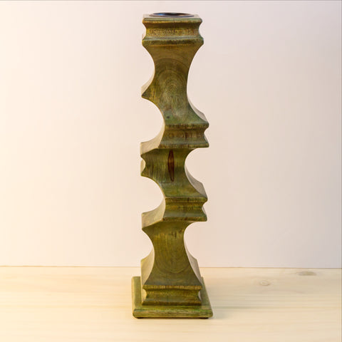 Hand crafted wood candleholders,Wooden candle holder.