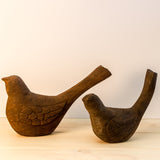 Bird wooden sculpture set of 2.Bird figurines,bird art ,bird decor.