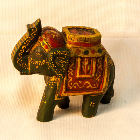 Wood Hand Carved sculpture,Figurine.Elephant small.