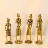 Dhokra Dokra brass Art,India gift,Tribal art. woman Musician brass sculpture..