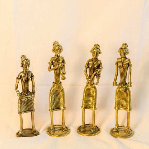 Dhokra/Dokra Art,Hand crafted,Tribal art.Musician Standing.