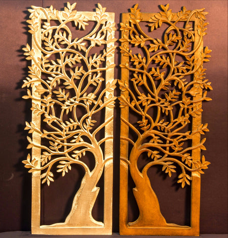 Carved Wood Wall Art Plaque ,Decorative.Tree Of Life,KAY