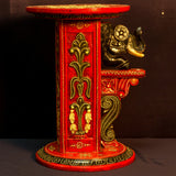 Furniture Hand Made Painted,India,Indian Art,Side Table,Elephant Head.