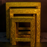 Furniture Hand Made ,India,Indian Art.Nesting Tables .Set of 3.