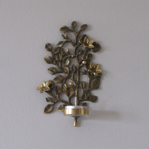 Brass Tealight candle Holder Wall Mounting,sconce.Branch.