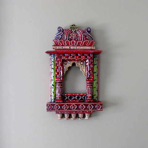 Photo Picture Frame ,Hand painted Jharoka,Rajasthani ,India Indian Art.