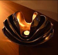 Aluminum cast Lotus Bowl.
