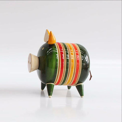 Coaster set,Hog,Pig,boar,colorful quirky design.
