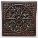 Carved Wood Wall Art Plaque ,Decorative Ari