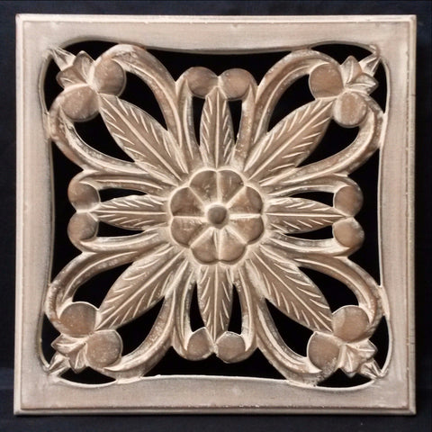 Carved Wood Wall Art Plaque ,Decorative. GIA