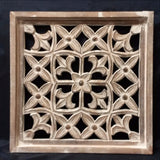 Carved Wood Wall Art Plaque ,Decorative, Ica