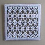 Carved Wood Wall Art Plaque ,Decorative Dot